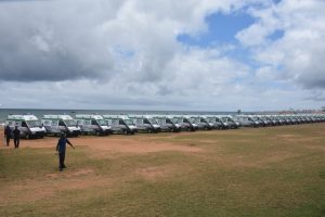 108 State of Art emergency ambulances gifted by Indian government and Dr.GVK. Reddy