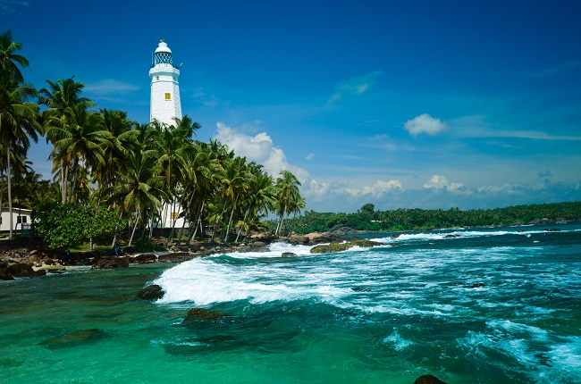 Dondra Head in the southern most tip of Sri Lanka overlooking the Indian Ocean