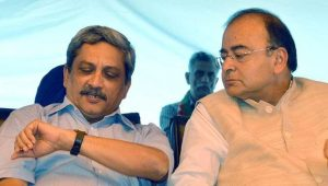 Indian Finance Minister Arun Jaitley (left) wants to skip meeting in Islamabad and Defense Minister Manohar Parrkar has said going to Pakistan is like going to hell.