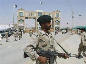 Pakistani Rangers guard Balochistan-Afghanborder