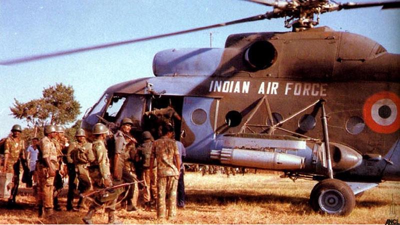 IPKF troops arrive in Sri Lanka's North