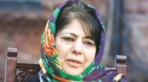 Mehbooba Mufti, Chief Minister of Kashmir who is in alliance with Narendra Modi's Hindu nationalist Bharatiya Janata Party