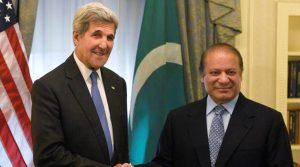 Pakistan Prime Minister Nawaz Sharif meets US Secretary of State John Kerry. Kerry's mixed signals brought no comfort to India desperately seeking international support.