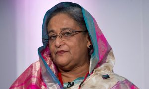 Sheikh Hasina Wajed, whose father Sheikh Mujibur Rahman led the war of liberation in 1971 and was assassinated with 16 members of his family by army officers in 1975