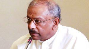 Dinesh Gunawardene, leader of the Joint Opposition owing allegiance to former President Mahinda Rajapaksa