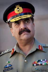 Pakistan army chief Gen. Raheel Sharif was berated by civilians for not controlling militants.