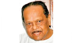 V.Anandasangaree, leader of Tamil United Liberation Front (TULF).