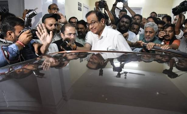 Congress leader and ex-Indian Finance Minister P.Chidambaram held in INX Media money laundering case